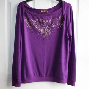 Seven7 Women's Boatneck Long Sleeve Shirt Sz:14/16